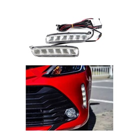 Toyota Vitz DRL Day Time Running Lights - Model 2014-2018-SehgalMotors.Pk