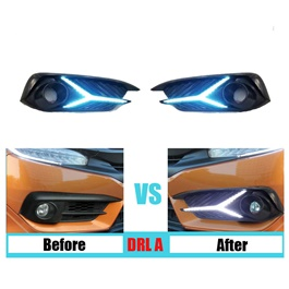 Honda Civic Fog Lamps / Fog Lights DRL Cover Sword Style - Model 2016-2020-SehgalMotors.Pk