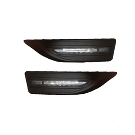 Side Fender Indicator Mercedes Style - Black | Auto Car LED Fender Turn signal Side Marker Light Lamp Indicator | Universal Car Side Turn Signal Light Lamp Led Side Marker Turn Signal Light Indicator Fender Lamp-SehgalMotors.Pk