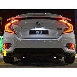 Honda Civic Rear Bumper Reflector Brake Lamp Design A - Model 2016-2020-SehgalMotors.Pk