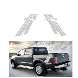 Toyota Hilux Rocco Graphics Vinyl Decal Car Styling Trunk Decor Sticker - White-SehgalMotors.Pk