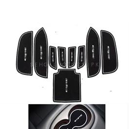 Honda Civic Interior Mats Black and White - Model 2006-2012-SehgalMotors.Pk