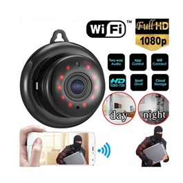 IP Security Camera Wireless Mini WIFI Infrared Light Night Vision - V380-SehgalMotors.Pk