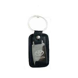 Toyota  Metal Leather Key Chain - Black | Key Chain Ring For Keys | New Fashion Creative Novelty Gift Keychains-SehgalMotors.Pk