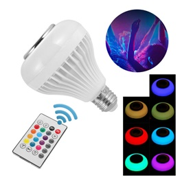 Remote Control RGB LED Bulb with Bluetooth Speaker Option-SehgalMotors.Pk