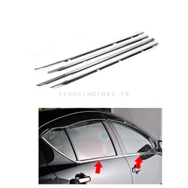 Toyota Aqua Weather Strip Chrome 4PC - Model 2012-2019
