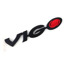 Vigo Metal Monogram - Black   Emblem   Decal   Monogram   Logo-SehgalMotors.Pk