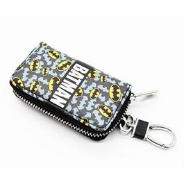 Batman Zipper Matte Leather Key Cover With Key Chain / Key Ring Pouch Style V1-SehgalMotors.Pk