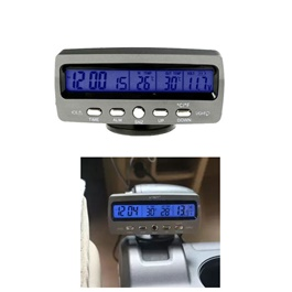 Car Electronic Dashboard Clock with Freeze-Alert, Thermometer, Voltage Meter, Clock - VST-7045V-SehgalMotors.Pk