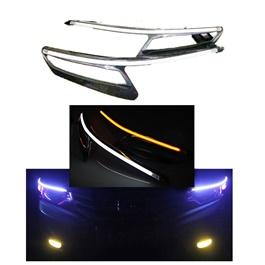 Honda City Headlight LED Eyebrow Carbon Fiber - Model 2017-2020-SehgalMotors.Pk