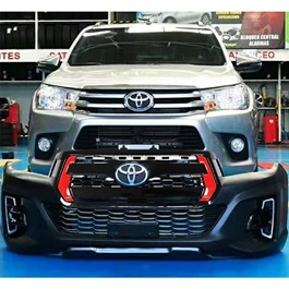 Toyota Hilux Revo to Rocco V5 with Red Trim TRD Grille Conversion Face uplift - Model 2016-2020-SehgalMotors.Pk