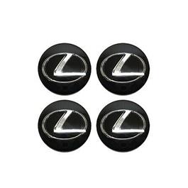 Lexus Wheel Cap Logo - 4 Pc  | Wheel Center Cap | Wheel Logo | Wheel Center Hub Caps | Wheel Dust Proof Covers Badge logo-SehgalMotors.Pk