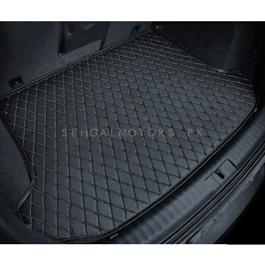 Audi A4 7D Trunk Mat Black - Model 2016-2018 | Trunk Boot Liner | Cargo Mat Floor Tray | Trunk Protection Mat | Trunk Tray Cover Pad-SehgalMotors.Pk