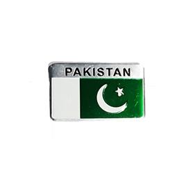 Pakistan Flag Monogram Emblem Logo with Double Tape - Chrome   Emblem   Decal   Monogram   Logo-SehgalMotors.Pk
