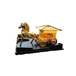 Riding Horse Dashboard Car Perfume - Gold | Car Perfume | Fragrance | Air Freshener | Best Car Perfume | Natural Scent | Soft Smell Perfume-SehgalMotors.Pk