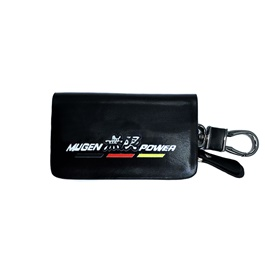Mugen Power Glossy Zipper Leather Key Cover Black-SehgalMotors.Pk