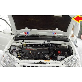 Toyota Corolla Bonnet Cover Protector Lid Garnish Namda - Model 2002-2008-SehgalMotors.Pk