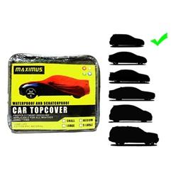 Maximus Medium Non Woven Scratchproof Waterproof Car Top Cover - Medium Hatch Back Size-SehgalMotors.Pk