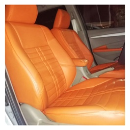 Honda City Leather Type Rexine Seat Covers Orange | Seat Covers | Universal Seat Covers | Leather Type Seat Covers-SehgalMotors.Pk
