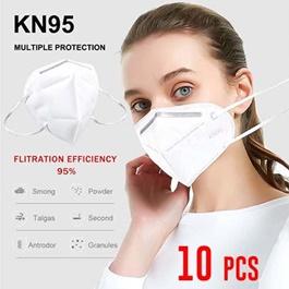 KN 95 Face Mask Protection against Coronavirus COVID 19 Virus Precaution Reusable Respiratory KN-95 KN95 Masks | Pack of 10