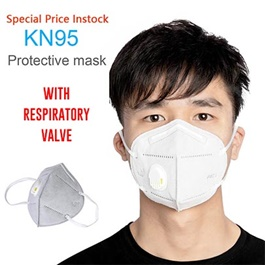 KN 95 Face Mask with Filter Protection against Coronavirus COVID 19 Virus Precaution Reusable Respiratory KN-95 KN95 Masks | with Filter Valve Each 1 Piece-SehgalMotors.Pk