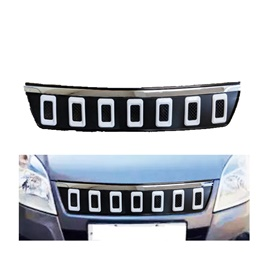 Suzuki Wagon R Navara Style Chrome Grille V2 With White Combination- Model 2014- 2020-SehgalMotors.Pk