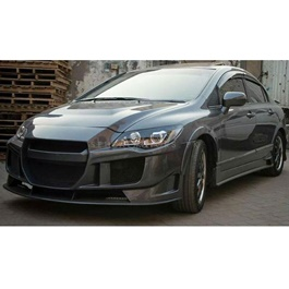 Honda Civic Reborn CRZ Style Conversion / Upgrade Body Kit Full Modified Fiber 4Pc - Model 2006-2012-SehgalMotors.Pk