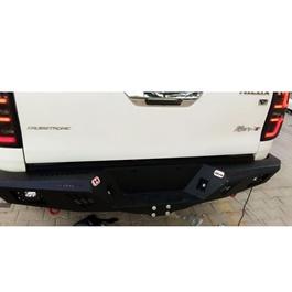 Toyota Hilux Revo Rear Bumper Steel Hamer Matte Black V2 - Model 2016-2020-SehgalMotors.Pk